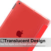 iPad 10.2 2019/2020 ( 7th & 8th Generation ) Case See Through Transparent Dual Cover - Red