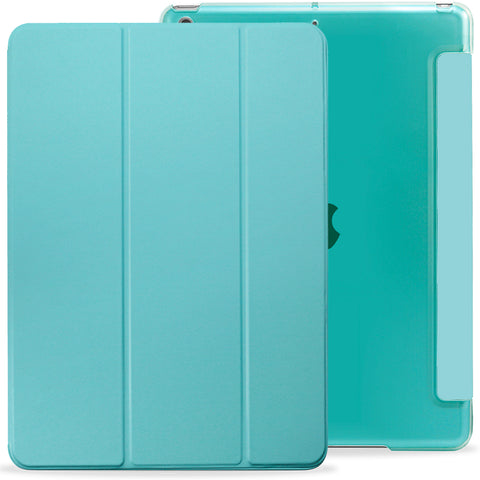 iPad 10.2 2019 ( 7th Generation ) Case See Through Transparent Dual Cover - Mint Green