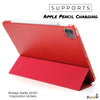 iPad Pro 11 Case 2nd Generation 2020 - Dual Hybrid See Through Series - Supports Pencil Charging - Red