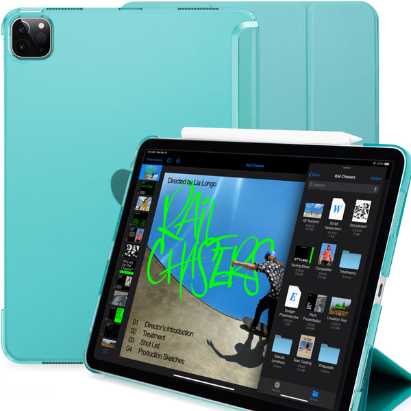 iPad Pro 11 Case 2nd Generation 2020 - Dual Hybrid See Through Series - Supports Pencil Charging - Green