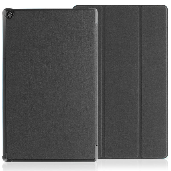 Dual Case For Amazon Kindle Fire HD 10 Tablet (7th Generation, 2017 Release) - Slim Folding Stand