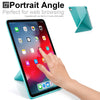 Origami Dual Case Cover For Apple iPad Pro 11 Inch See Through Horizontal & Vertical Display - Mint Green