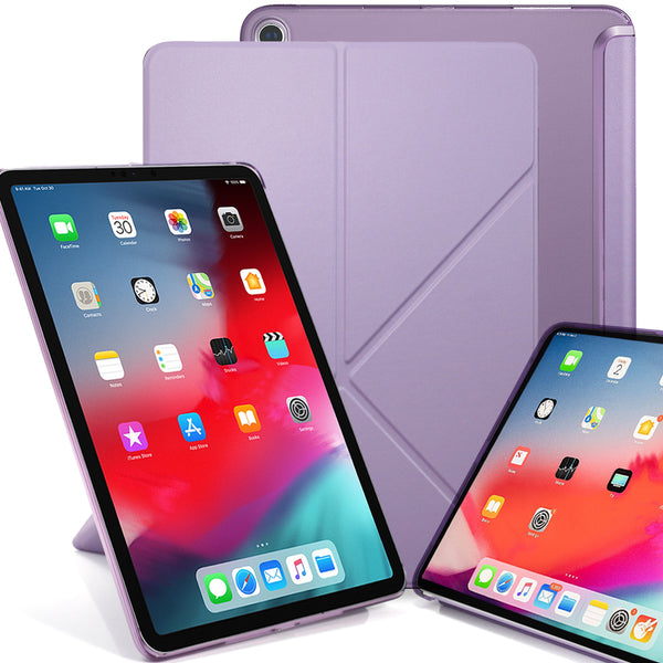 Origami Dual Case Cover For Apple iPad Pro 11 Inch See Through Horizontal & Vertical Display - Lavender Purple