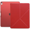 Origami Dual Case Cover For Apple iPad Pro 12.9 Inch 3rd Generation See Through Horizontal & Vertical Display - Red