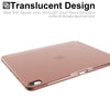 Origami Dual Case Cover For Apple iPad Pro 12.9 Inch 3rd Generation See Through Horizontal & Vertical Display - Rose Gold