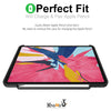 Dual Case Cover With Pen Holder For Apple iPad Pro 11 Inch Super Slim Support Pencil Charging - Charcoal Black