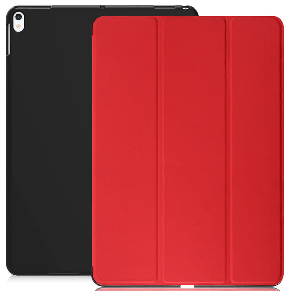 Dual Case Cover For Apple iPad Pro 10.5 Inches Super Slim With Smart Feature - Red/Black