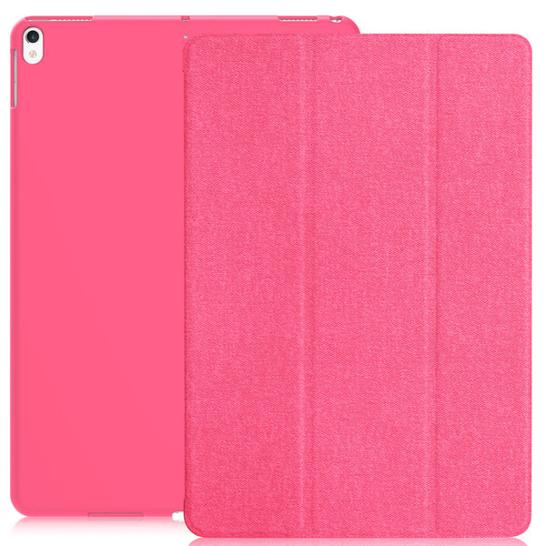 Dual Case Cover For Apple iPad Pro 10.5 Inches Super Slim With Smart Feature - Twill Hot Pink
