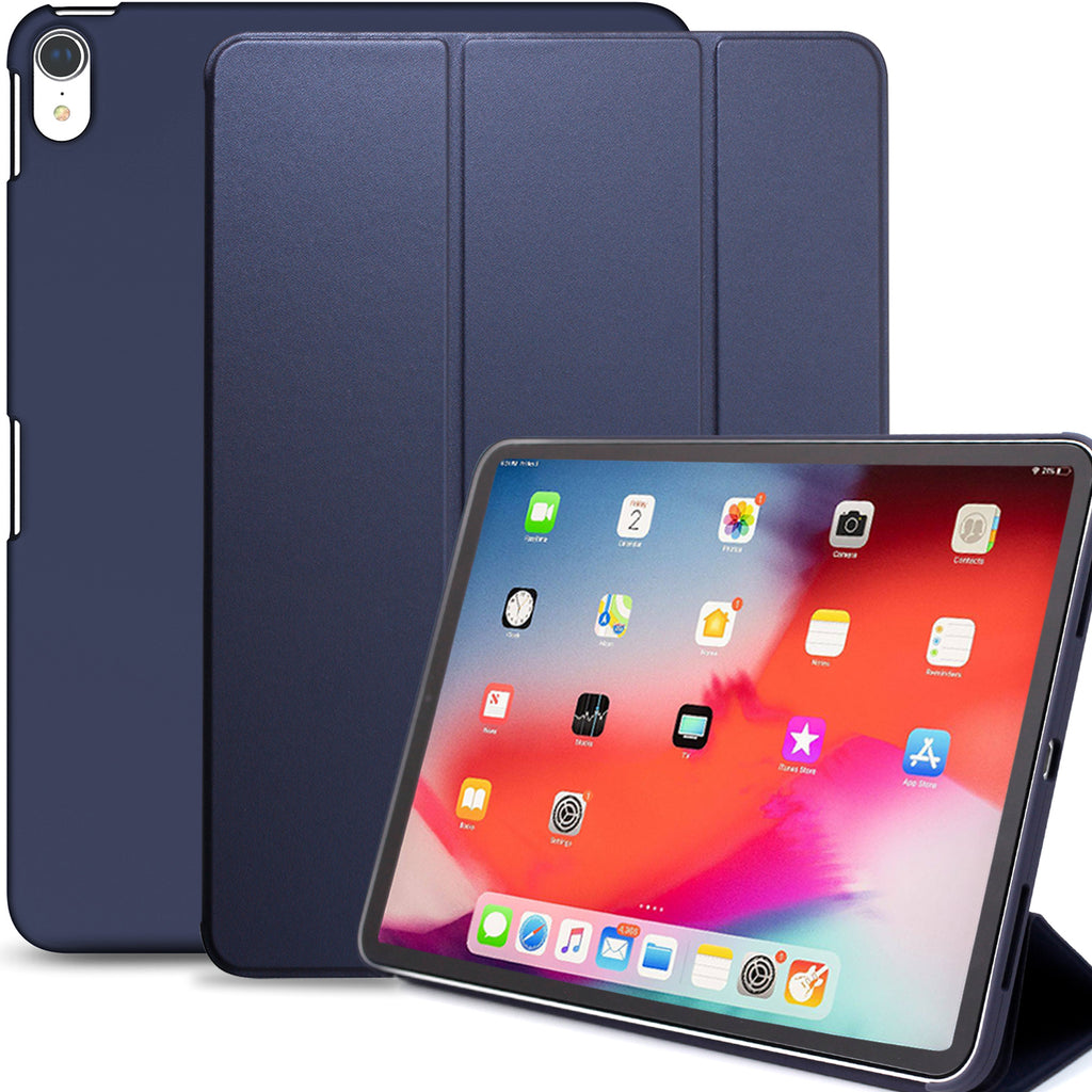 Dual Case Cover For Apple iPad Pro 11 Inch Super Slim With Rubberized Back & Smart Feature - Navy Blue