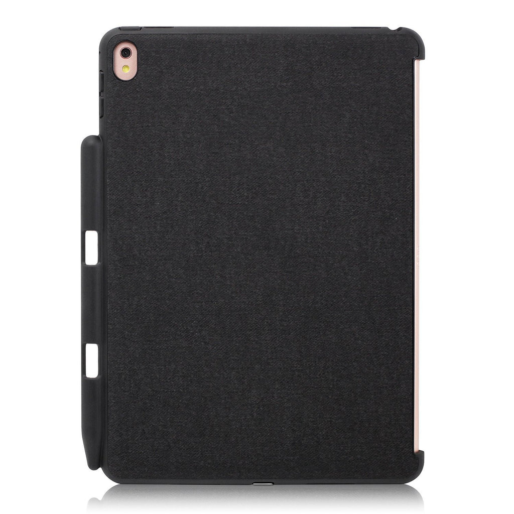 Khomo iPad Pro 12.9 Inch Black Cover - Companion Case With Pen holder