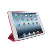 Dual Case For iPad Mini / Retina / Mini 3 - Twill Texture - Dark Pink