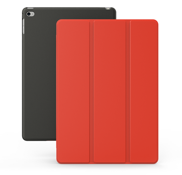 Dual Case For iPad Air 2 - Red / Black