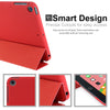 Dual Case For Apple iPad Mini 5 Super Slim Rubberized Back & Smart Feature - Red