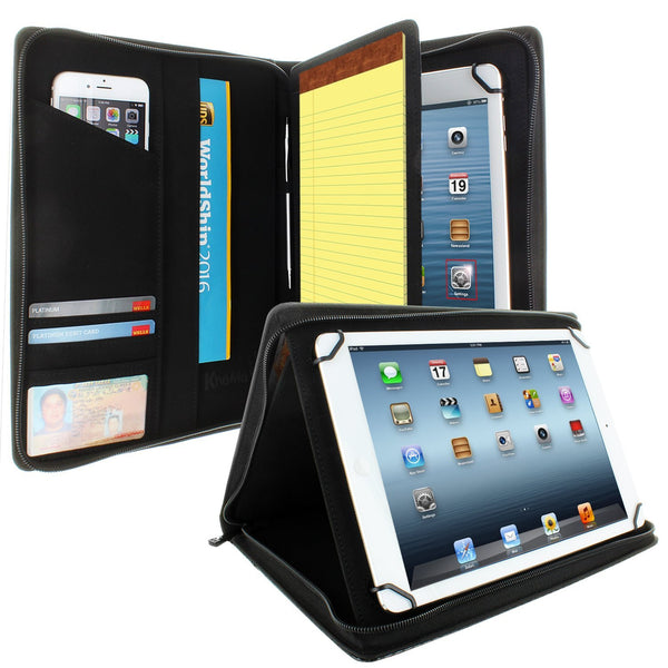 Apple iPad 9.7 PadFolio Case Carbon Fiber Executive Notepad Holder 8.5
