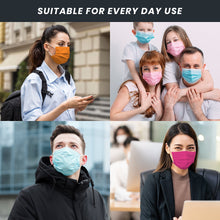 Load image into Gallery viewer, AMLIFE Face Masks 50 Pack Multi Color 3-Ply Filter Disposable Made in USA with Imported Fabric