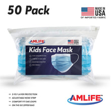 Load image into Gallery viewer, AMLIFE Kids Size Face Masks Youth Children Boys Girls Youth Filter Mask Made in USA Imported Fabric-AMLIFE Face Masks