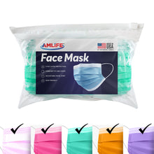 Load image into Gallery viewer, Amlife Disposable Face Masks Protective 3-Ply Filter Made in USA with Imported Fabric