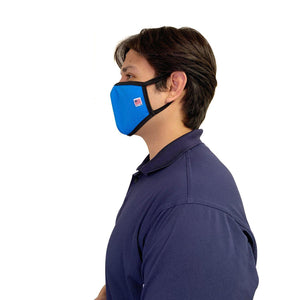 Made in USA Face Masks Mouth Nose Washable Reusable Double Layer Mask Cotton Cloth Blend-Face Mask Pack-Casaba-Royal Blue-CSB-TRI-FM-ROYAL