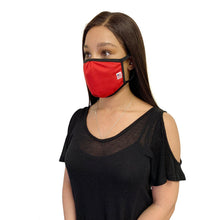 Load image into Gallery viewer, Made in USA Face Masks Mouth Nose Washable Reusable Double Layer Mask Cotton Cloth Blend-Face Mask Pack-Casaba-Red-CSB-TRI-FM-RED