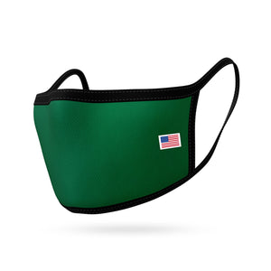 Made in USA Face Masks Mouth Nose Washable Reusable Double Layer Mask Cotton Cloth Blend-Face Mask Pack-Casaba-Green-CSB-TRI-FM-GREEN
