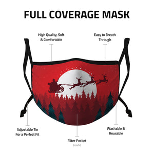 Casaba Face Masks Adult Kids Sizes Fun Cute Holiday Christmas Cotton Poly Adjustable Washable Reusable 2 Layer Pocket Filter - Casaba Shop