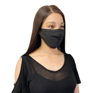 3 Pack Black Cotton Face Mask Cloth Masks for Mouth Nose Washable Reusable Double Layer Covering Adjustable Ear-Face Mask Pack-Casaba-CSB-COTTONFM-BLK-3 PACK