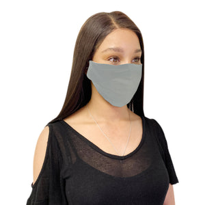 6 Pack Grey Cotton Face Mask Cloth Masks for Mouth Nose Washable Reusable Double Layer Covering Adjustable Ear-Face Mask Pack-Casaba-CSB-COTTONFM-GRY-6 PACK