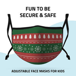 Casaba Face Masks Adult Kids Sizes Fun Cute Holiday Christmas Cotton Poly Adjustable Washable Reusable