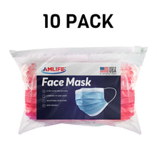 Load image into Gallery viewer, Amlife Disposable Face Masks Protective 3-Ply Filter Made in USA with Imported Fabric-AMLIFE Face Masks