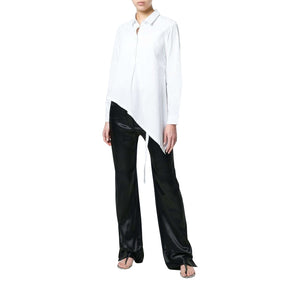 Ann Demeulemeester Womens Pants Relaxed Drawstring Pants