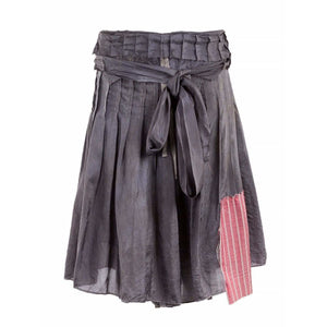 Case Study Skirts 38 / Stone Grey Silk Skirt