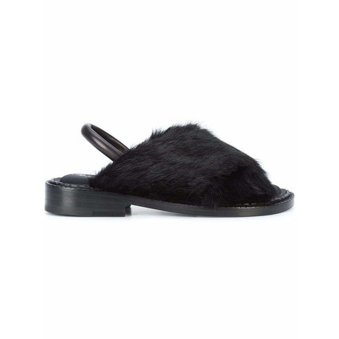 CLERGERIE Womens Shoes Fur Sandals