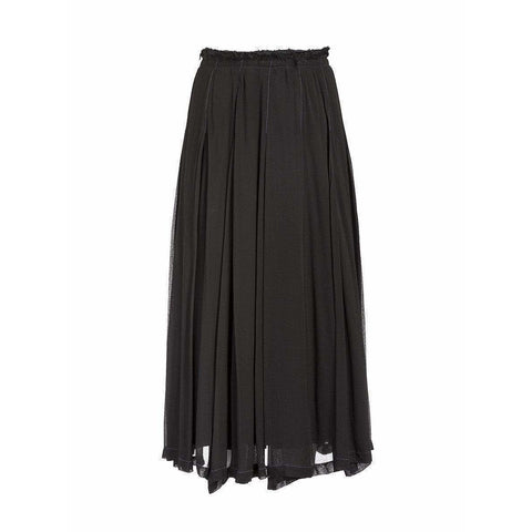 Comme des Garçons Skirts Small / Black Pleated Maxi Skirt