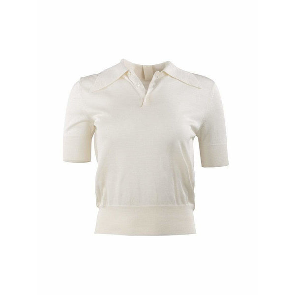 Comme des Garçons Womens Tops Small / White Fitted Polo