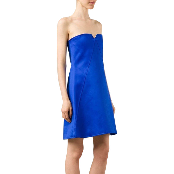 Courrèges Dresses 40 / Blue Strapless dress