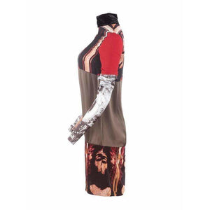 Jean Paul Gaultier Dress 42 / Graphic Vintage Dress