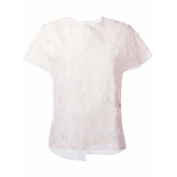 Julien David Womens Tops Short Sleeve Textured Shirt