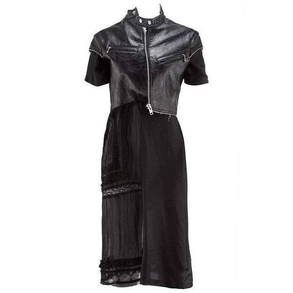 Junya Watanabe Dresses Medium / Black vintage biker dress