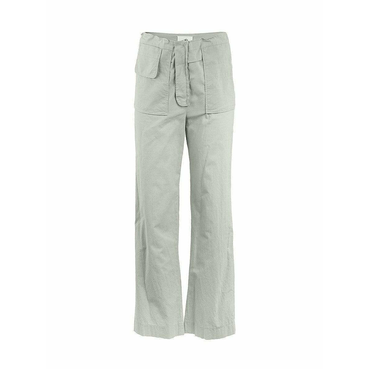 Maison Martin Margiela Womens Pants 40 / Grey Straight Leg Trousers