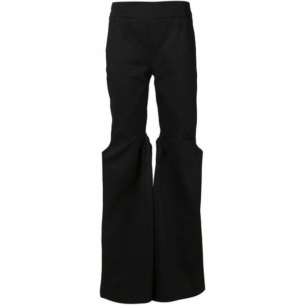 Musée Womens Pants S / Black Flared Trousers