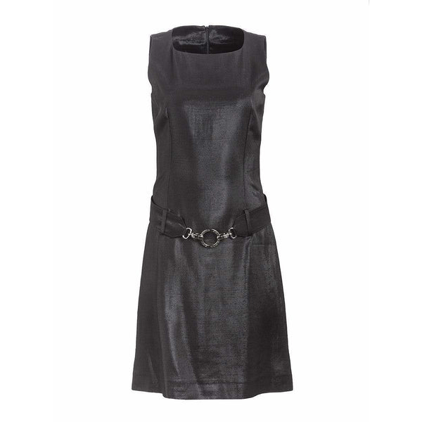 Paco Rabanne Dresses 40 / Black Sleeveless Belted Dress