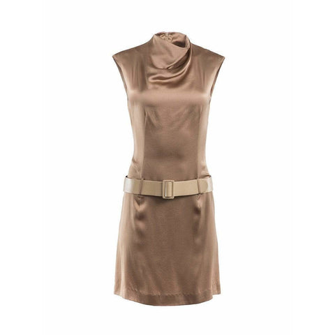 Paco Rabanne Dresses Small / Gold Draped Neck Dress