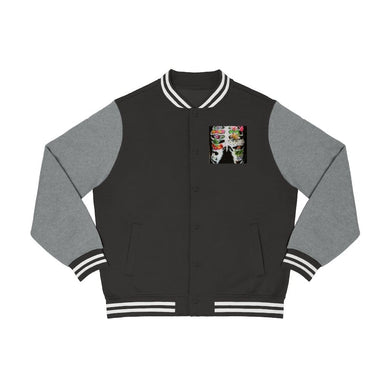 Printify Long-sleeve XS / Black/Vintage Heather Varsity Jacket