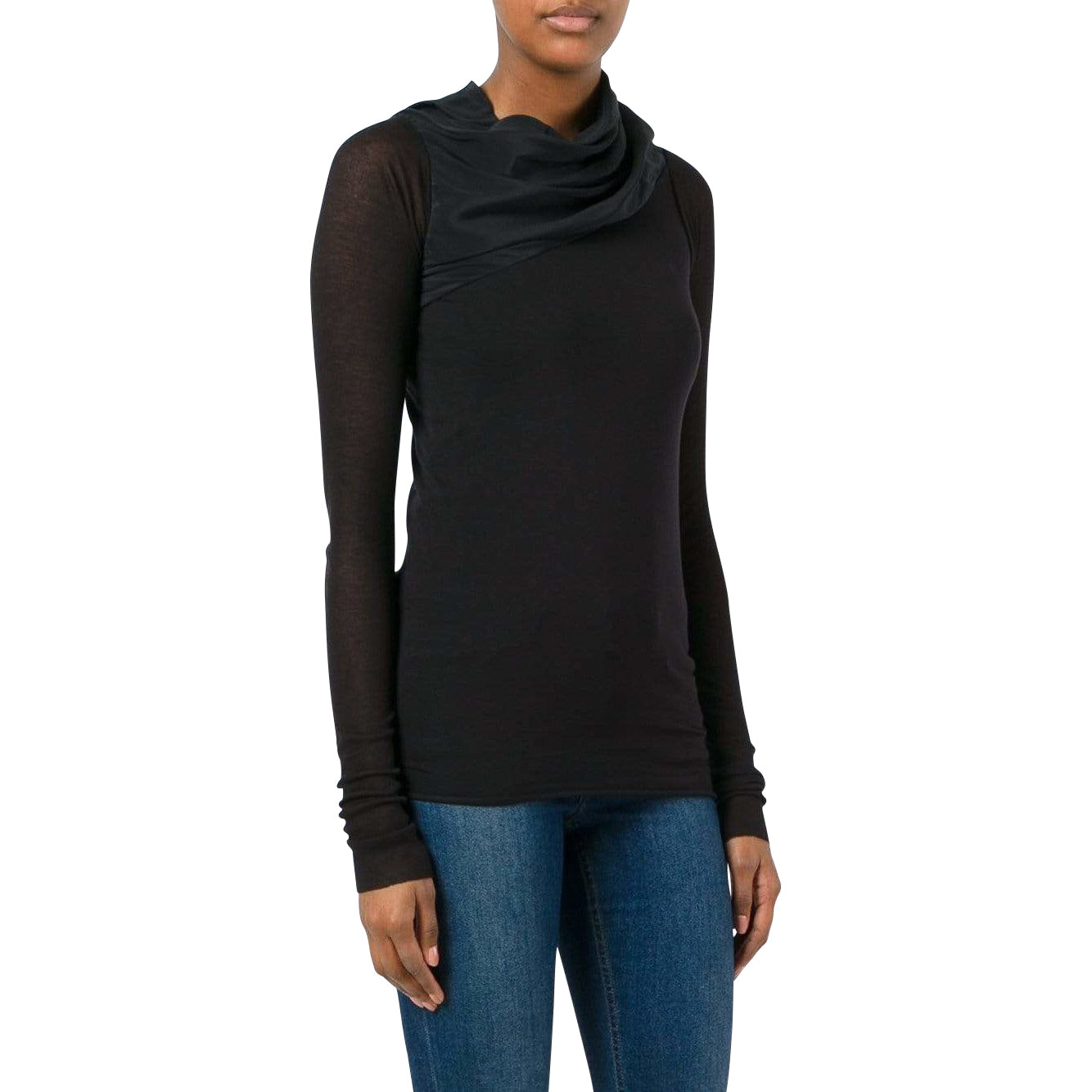 Rick Owens lilies Women's Tops 40 / Black Draped Top