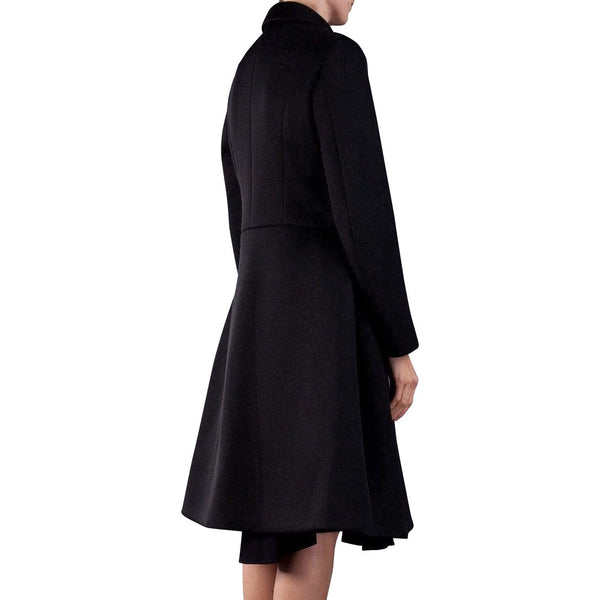 Womens Jackets + Coats - Perforated Coat In Black