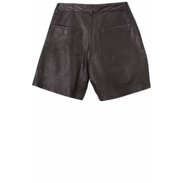 Skingraft Womens Shorts 28 / Black Leather Short