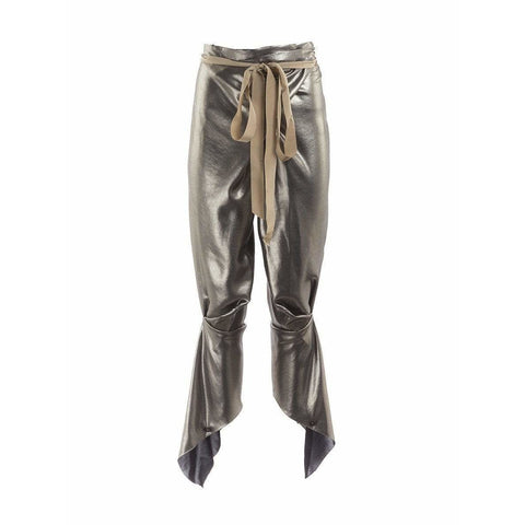 Thimister Womens Pants Small / Silver Harem Pants