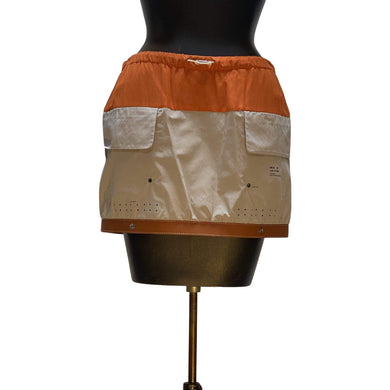 Undercover Skirts JP2 / Beige and orange Undercover Leather Hem Mini