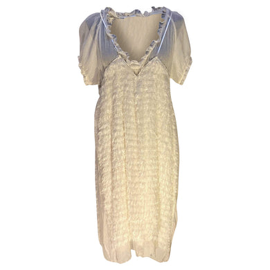 Undercover Women's dresses 3 / Cream / Silk/Rayon/Cupro Undercover Sheer Feather Dress