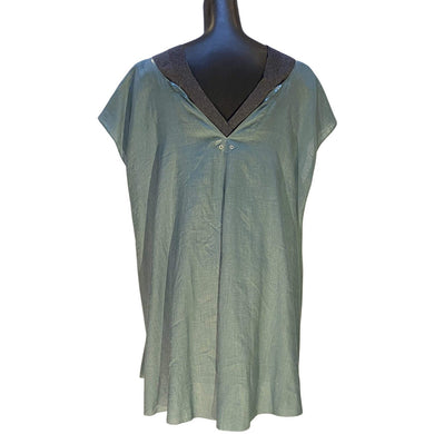 Undercover Women's dresses JP2 / Blue grey Undercover V-Neck Tunic Dress